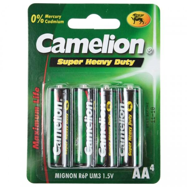 4er Blister Camelion R06 Zink-Kohle Mignon AA Batterie