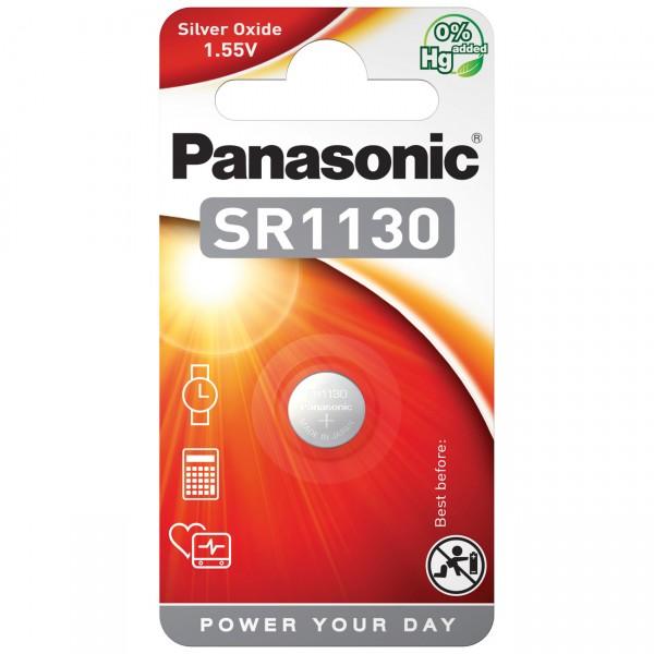 1er Blister Panasonic SR1130EL Knopfzelle - 1,55V / 82mAh - 3 Volt AgO SR 1130 Batterie