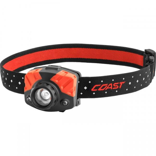 Coast LED Kopflampe FL75R - fokussierbare Stirnlampe / Outdoorleuchte mit Rotlicht