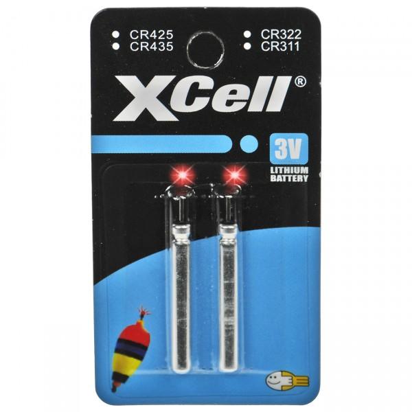 2er Blister XCell electronics CR435 - 3V / 48mAh / Lithium Batterie