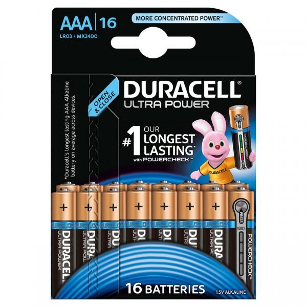 Duracell MN2400 Ultra Power Micro Batterie mit Powercheck 16er Blister
