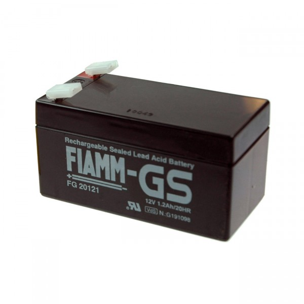 Fiamm Blei-Akku FG20121 - 12V / 1,2Ah - Faston 4,8mm / Blei Akku mit VdS Zulassung