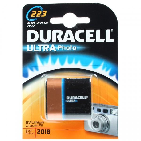 1er Blister Duracell Photobatterie 2CRP2 Ultra DL223 Lithium - 6V / 1400mAh - 6 Volt Batterie