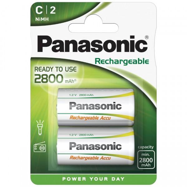 Panasonic Rechargeable Baby C Akku - HHR-2SRE/2B - 1,2V / 2800mAh / NIMH - 1,2 Volt Ni-Mh