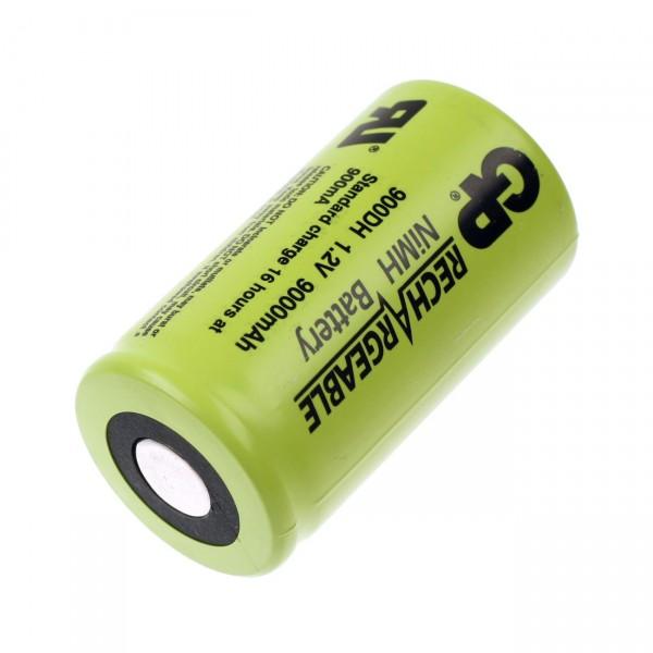 GP Akku D Mono GP900DH NIMH - 1,2V / 9000mAh - 1,2 Volt Flattop Hochstromakku