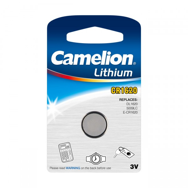 Camelion Lithium-Knopfzelle CR1620 Lithium 3V / 90mAh