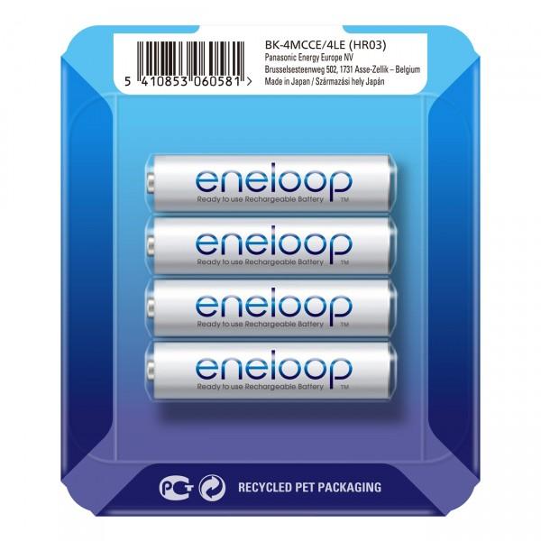 eneloop Micro Akku BK-4MCCE/4LE Ni-MH 1,2V / 800mAh 4er Storage Case