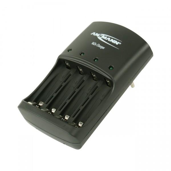 Ansmann Nickel-Zink Ladegerät - Stecker - Lader für 1-4 NiZn AA Mignon / AAA Micro Akkus
