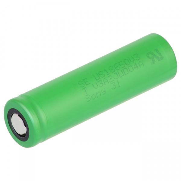 Sony US18650V3 - 3,7V / 2250mAh - Lithium 18650 Akkus inkl. Premium Akkubox