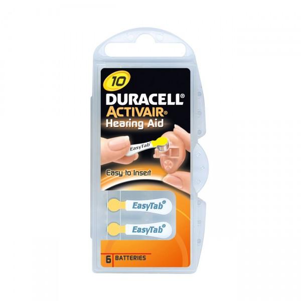 Duracell Hörgerätebatterie Activair 10 - 1,45V / 90mAh - Zink Luft Hörgeräte Batterie