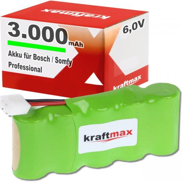 XCell Ni-MH Akkupack F1x5 für Bosch Somfy - 6V / 3000mAh / NIMH Akku Pack