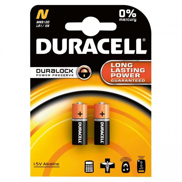 2er Blister Duracell MN9100 Lady Batterie LR1 - 1,5V / 825mAh / Alkaline - 1,5 Volt