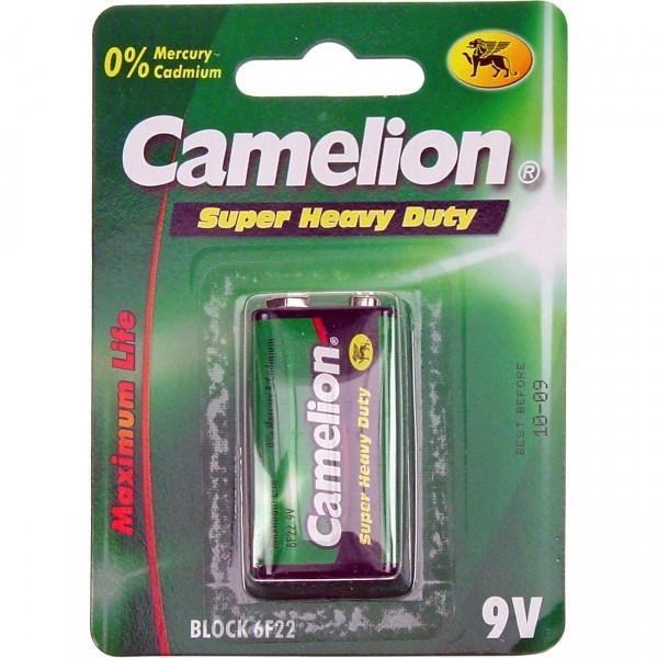 1er Blister 9 Volt Batterie Camelion - 6F22 Zink-Kohle 9V-Block