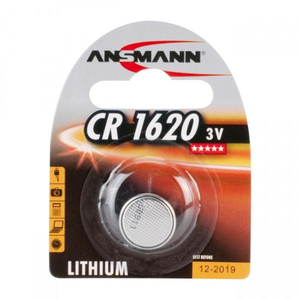 Ansmann Lithium-Knopfzelle CR1620 Lithium 3V / 70mAh
