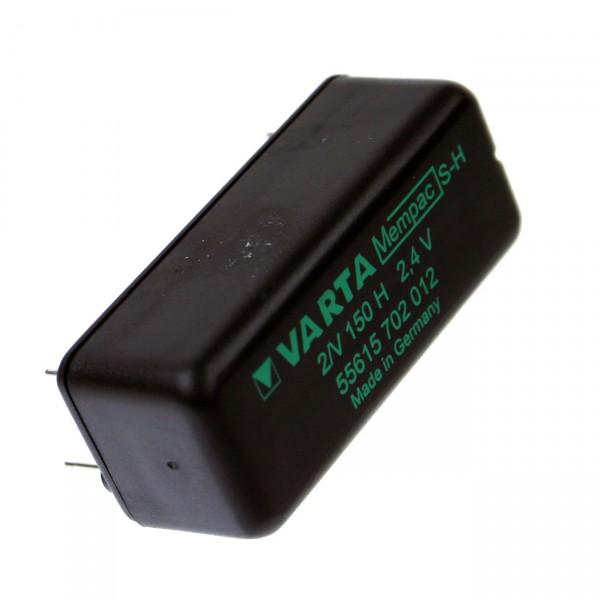 Varta Mempac 2/V150H - 2,4V / 150mAh Print 2/2 ++/-- VKB 55615 702 012