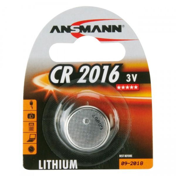 Ansmann Lithium-Knopfzelle CR2016 Lithium 3V / 75mAh
