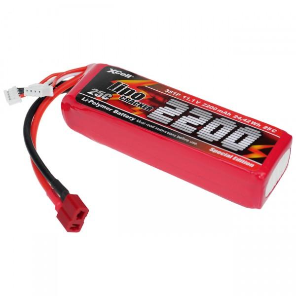 XCell LiPo Cracker Akku Pack - 3S1P - 11,1V / 2100mAh / Li-Poly - 11,1 Volt Lithium Polymer