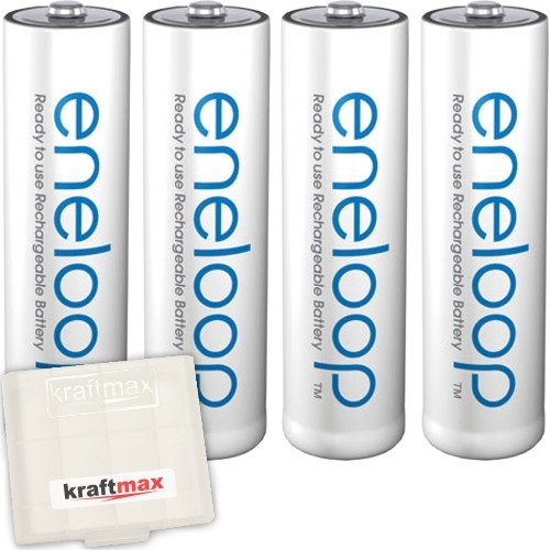 4er Pack Panasonic Eneloop AA/Mignon Akkus - Neueste Generation - Hochleistungs Akku Batterien