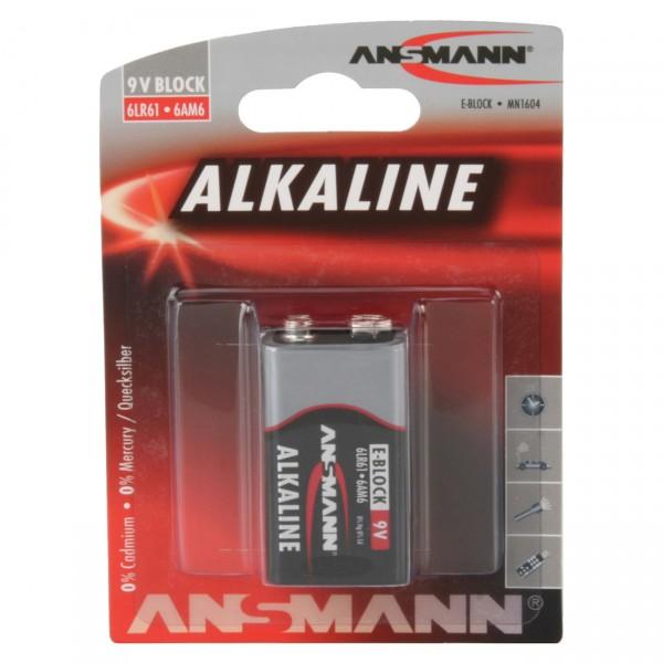 Ansmann 6LR61 Red Alkaline 9V-Block 1er Blister