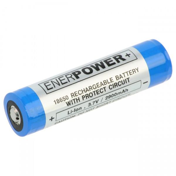 Samsung 18650 Li-Ion Akku - 3,6V / 2900mAh - Lithium 18650 Akkus inkl. Schutz für Taschenlampen