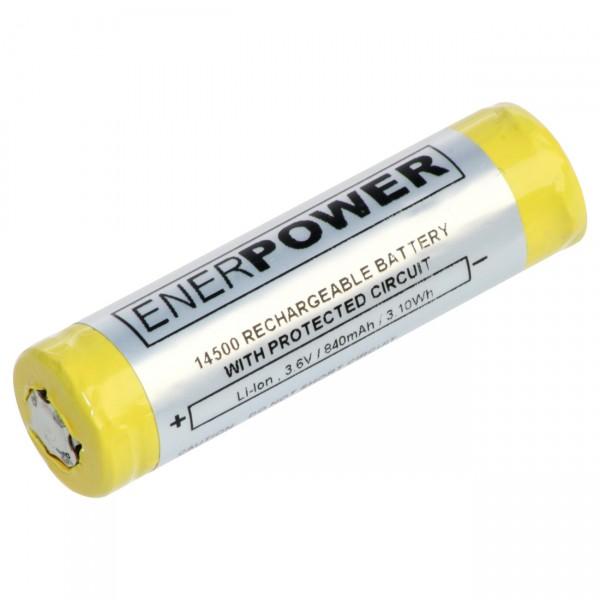 Enerpower - 3,6V / 840mAh / Li-Ion - inkl. Schutzschaltung für Taschenlampen