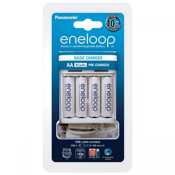 eneloop USB - Ladegerät - BQ-CC61 - inklusive 4xAA Akkus