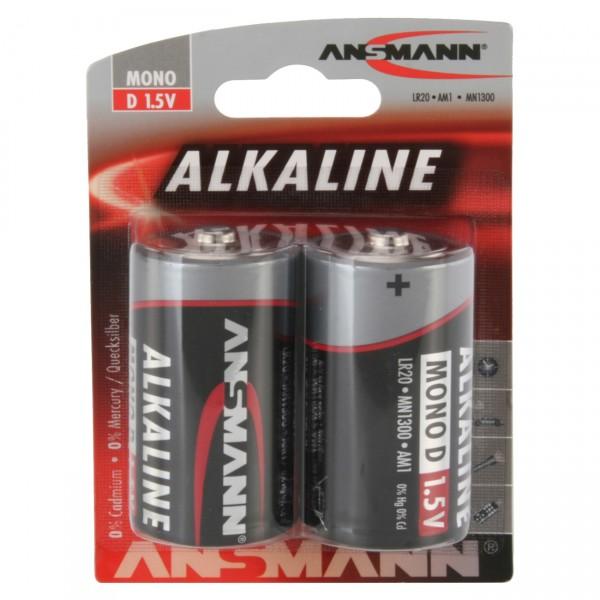 Ansmann LR20 Red Alkaline Mono Batterie 2er Blister