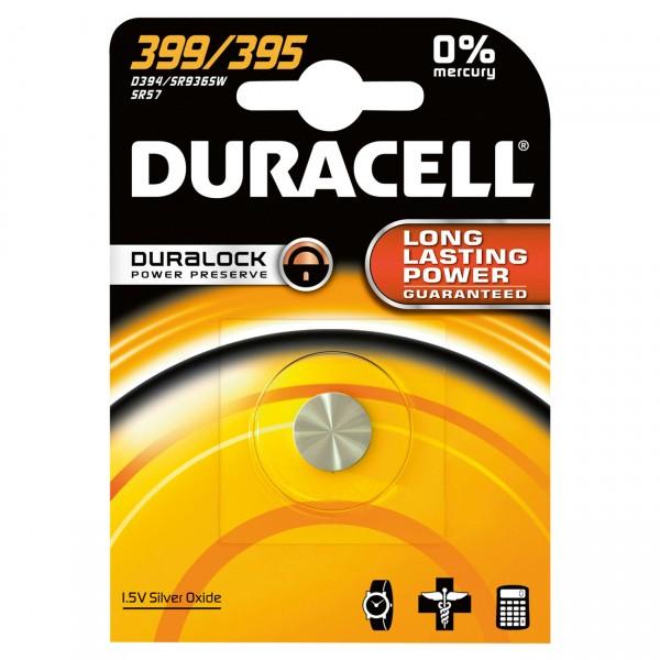 Duracell Uhrenbatterie D395/D399 - SR57 - 1,55V / 55mAh / AgO - Batterie für Uhr
