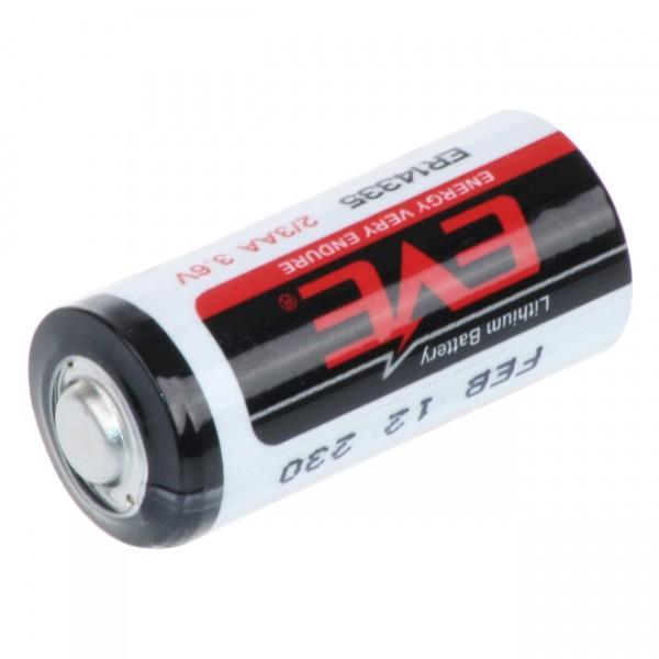 EVE Lithium 2/3 AA Batterie - ER14335 - 3,6V / 1650mAh / LiSOCI2 - 3,6 Volt 2/3 Mignon Batterien
