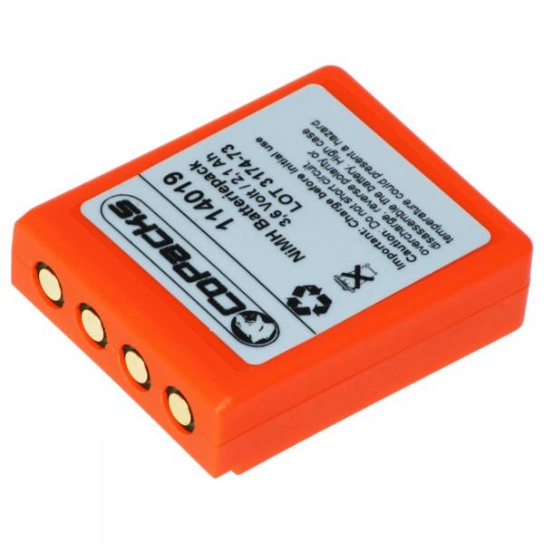 Ersatz Akku Funkfernsteuerung - BA223030 - 3,6V / 2100mAh / NIMH - 3,6 Volt Ni-Mh Akkupack