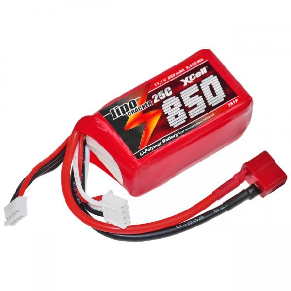 XCell LiPo Cracker 11,1V / 850mAh 3S1P, 35C, T-Buchse EHR/XH/T-Buchse