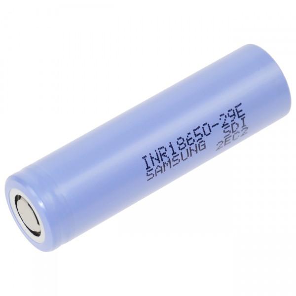 Samsung INR18650-29E Zelle 4/3 A - 3,6V / 2900mAh - Lithium 18650 Akkus inkl. Premium Akkubox