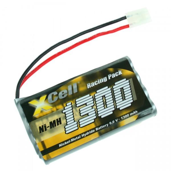 XCell RC Pack mit Tamiya-Stecker - 9,6V / 1300mAh / NIMH 9,6 Volt Akku Hochleistungs Racing Car Akku