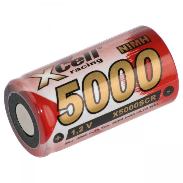 XCell Sub C Akku - 1,2V / 5000mAh - X5000SCR - Hochstromakku für Industrie