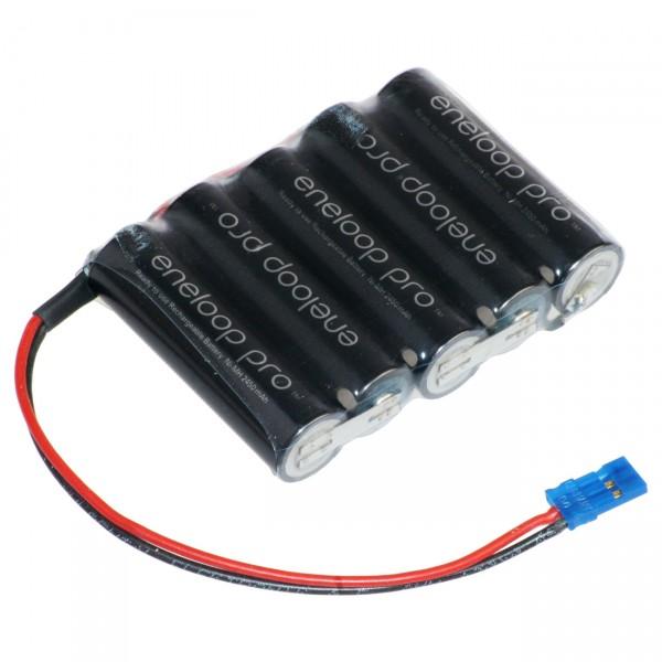 Panasonic eneloop Akkupack - 6,0V / 2500mAh / NIMH - F1x5 Akku Pack passend für Graupner