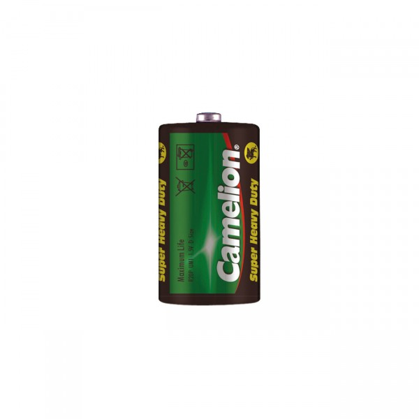 2er Pack Camelion R20 Mono D Batterie - 1,5V / 8025mAh / Zn/C - 1,5 Volt Zink-Kohle Batterien