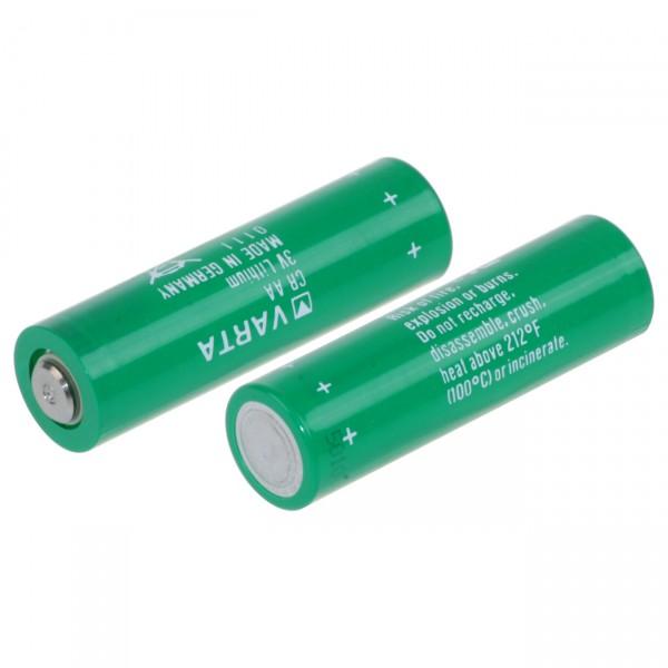 Varta Lithium Batterie CR Mignon AA - 3V / 2000mAh - 3 Volt LiMnO2 Flattop Industriebatterie