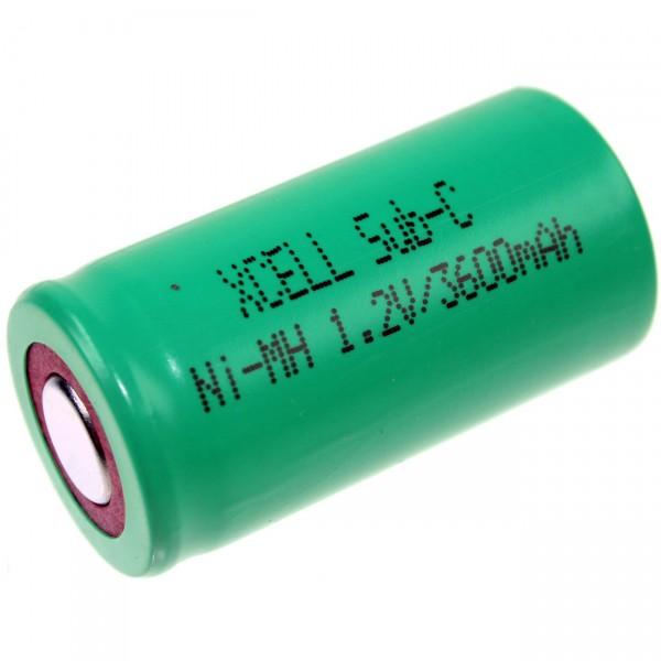 XCell Sub C Akku - 1,2V / 3600mAh / NIMH - X3600SCR Hochstromakku