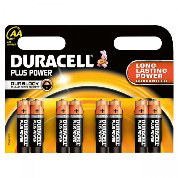 8er Blister Duracell MN1500 Plus Power 1,5V Mignon Alkaline Batterie - 1,5 Volt AA