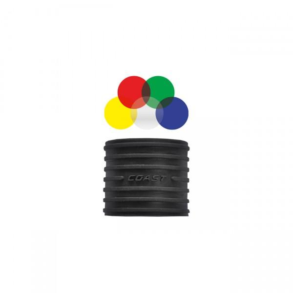 Coast Farbfilterset LF100 - Tactical Farbfilterset für Jäger passend zu HP7 Taschenlampe