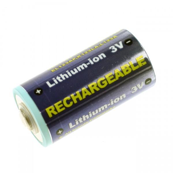 Fotoakku Li-Ion CR123A B26123 - 3V / 500mAh - 3 Volt Lithium Photoakku wiederaufladbar