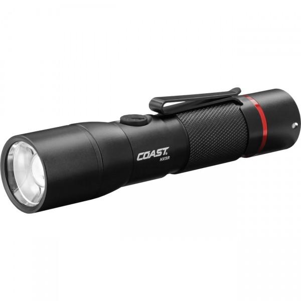 Coast LED Taschenlampe HX5R - Outdoorlampe / Campinglampe - fokussierbar wiederaufladbar mit Akku