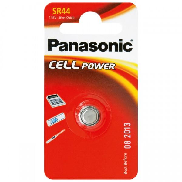 1er Blister Panasonic Knopfzelle Batterie - 1,55V / 180mAh / AgO - 1,55 Volt SR44