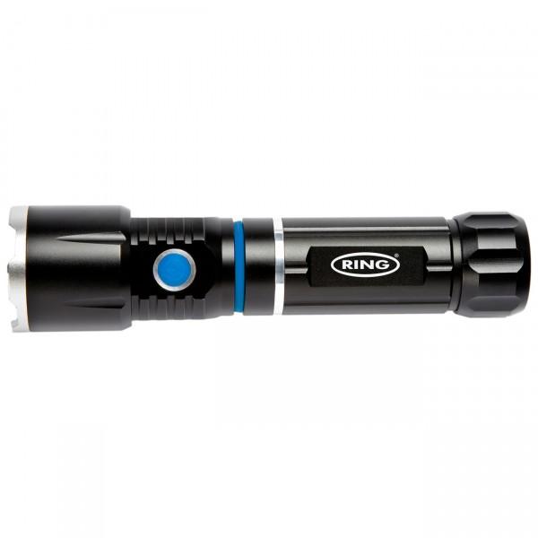 Ring RT5195 LED - Teleskop-Stablampe mit Arbeitsleuchte inkl. 4x AAA Batterien
