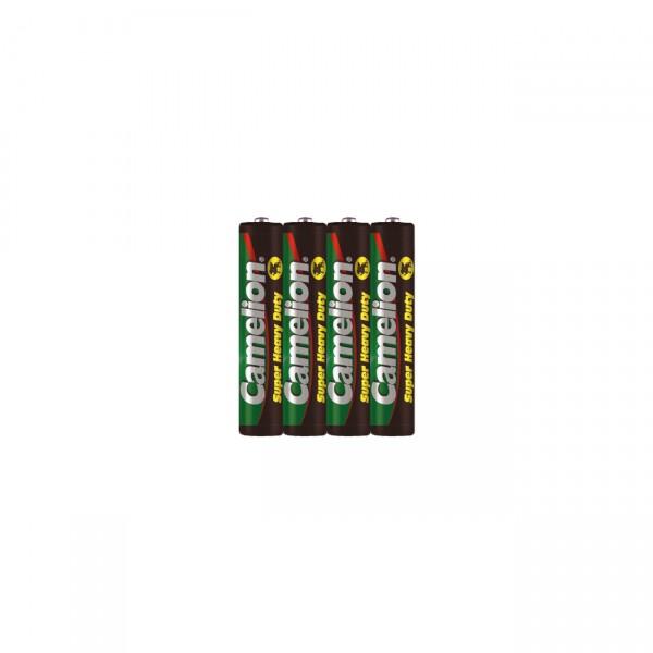 4er Pack Camelion R03 Micro Zn/C Batterie - 1,5V / 550mAh - 1,5 Volt AAA Zink-Kohle Akkus