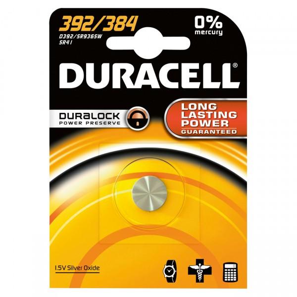 Duracell Uhrenbatterie D392 - 1,55V / 45mAh / AgO - Batterie für Uhr