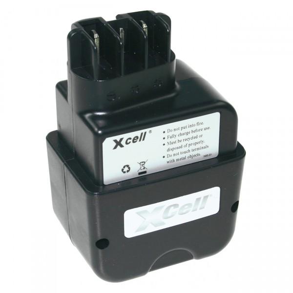 XCell Werkzeugakku für Metabo Stiftkontakt - 9,6V / 3000mAh / NIMH - 9,6 Volt PREMIUM Akku