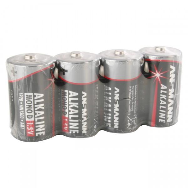 Ansmann LR20 Red Alkaline Mono Batterie 4er Folie