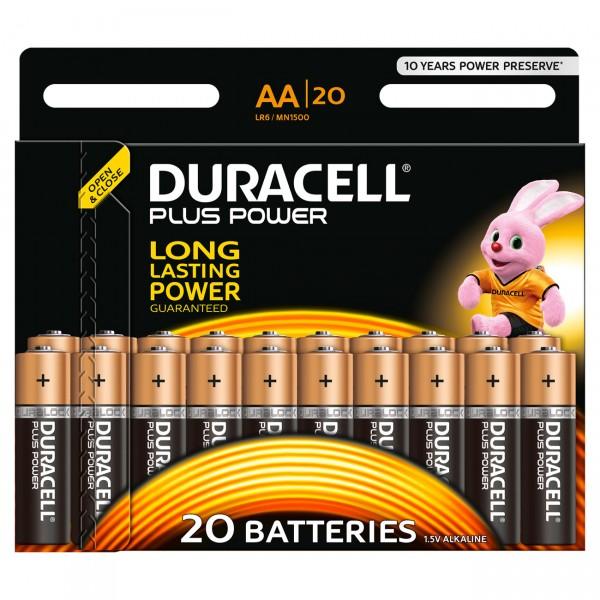 20er Blister Duracell MN1500 Plus Power 1,5V Mignon Alkaline Batterie - 1,5 Volt AA Batterien