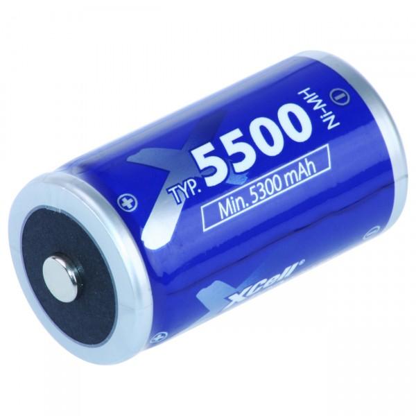 XCell Mono Akku ECO - 1,2V / 5500mAh / NIMH - 1,2 Volt Ni-MH MonoD